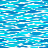 Seamless patterns with stylized waves stock illustration
