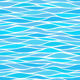 Seamless patterns with stylized waves Stock Images