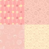 Seamless patterns with sweets Royalty Free Stock Photo