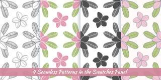 Seamless patterns with Thai massage, spa elements Stock Photo