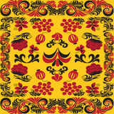 Seamless patterns in traditional russian style Hohloma (a brand Stock Image