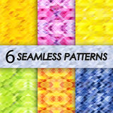 Seamless patterns in tropical colors Stock Photos