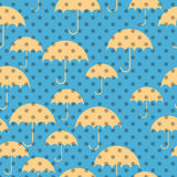 Seamless patterns of umbrellas. In four different pannels Royalty Free Stock Photos