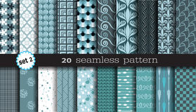 20 Seamless Patterns. Used for print, pattern, fabric Royalty Free Stock Photo