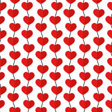 Seamless patterns for Valentine's day. Romantic backgrounds, patterns of hearts vector illustration
