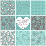 Seamless patterns Valentine's Day Royalty Free Stock Image