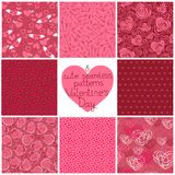 Seamless patterns Valentine's Day Royalty Free Stock Images