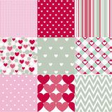 Seamless patterns Valentines Day Royalty Free Stock Photos