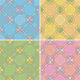 Seamless patterns (vector). Seamless patterns, perfectly tile-able both horizontally and vertically; scalable and editable vector illustration stock illustration