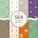 Seamless patterns Vector aqua background Set wallpaper Royalty Free Stock Photos