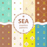 Seamless patterns Vector aqua background Set wallpaper Stock Photos