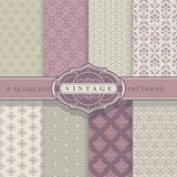 Seamless Patterns. Vintage Set. Stock Images