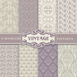 Seamless Patterns. Vintage Set. Stock Photo