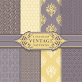Seamless Patterns. Vintage Set. Stock Photography