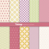 Seamless patterns Vintage style Stock Photography