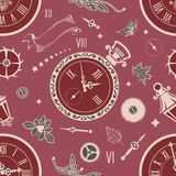Seamless patterns watch Stock Images