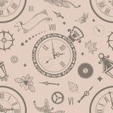 Seamless patterns watch Stock Photo