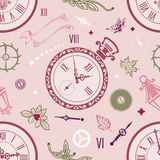 Seamless patterns watch Royalty Free Stock Image