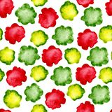 Seamless patterns from watercolor stains and white background with random elements. Dotted abstract pattern for the design of. Backgrounds, covers, prints stock illustration
