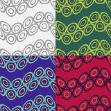 Seamless patterns with wavy bands of circles Royalty Free Stock Photography
