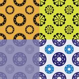 Seamless patterns from wheels and gears. Vector illustration Stock Photography