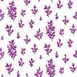 Seamless patterns wich sprigs Stock Photo