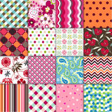 Seamless Patterns With Fabric Texture Royalty Free Stock Images