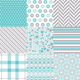 Seamless Patterns With Fabric Texture Royalty Free Stock Photo
