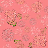 Seamless patternwith flowers Royalty Free Stock Photography