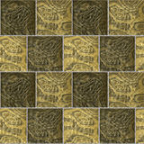 Seamless pavement pattern with rough beige, brown and gold marbled structure Royalty Free Stock Images