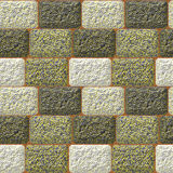 Seamless pavement pattern with rough grained rectangles Stock Image