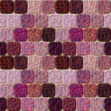 Seamless pavement pattern of rounded squares with marbled structure Stock Photography