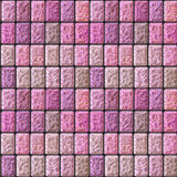 Seamless pavement relief pattern of pink and beige ceramic tiles Royalty Free Stock Photo