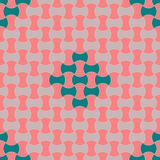 Seamless Paver Pattern. Grey and red cement paver bricks pattern with additional green design Royalty Free Stock Photo