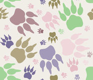 Seamless paw print Royalty Free Stock Photos