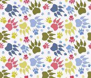 Seamless paw print Stock Photography