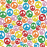 Seamless Peace Signs Stock Image