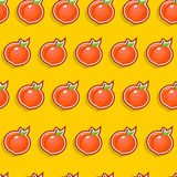 Seamless Peach Pattern Royalty Free Stock Image