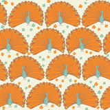 Seamless peacocks. Seamless pattern with cute peacocks Stock Photos