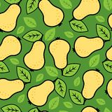 Seamless pear background Royalty Free Stock Photos