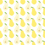Seamless pear pattern. Stock Photo
