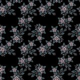 Seamless pearls beads jewelry pattern on black. Background Royalty Free Stock Photography