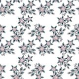 Seamless pearls beads jewelry pattern on white. Background Stock Image