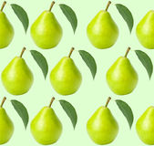 Seamless pears background Stock Photos
