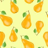 Seamless pears pattern Royalty Free Stock Photography