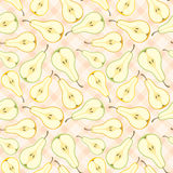 Seamless pears pattern Stock Photos