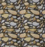 Seamless Pebble background Hand drawn sketch Royalty Free Stock Photography