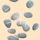 Seamless pebbles on sand. plus EPS10 Royalty Free Stock Photo