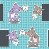 Seamless peek a boo cats pattern. royalty free illustration
