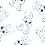 Seamless pencil drawing pattern Royalty Free Stock Images